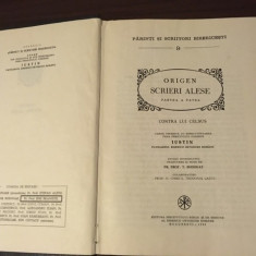 PSB 9 ORIGEN- SCRIERI IV, CONTRA LUI CELSUS