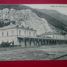 Romania Caras Severin Verciorova gara / negru, Circulata, Printata