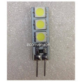 Bec LED 1W 6LED SMD Bulb 12V G4 Alb Rece, Becuri LED