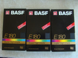Lot 3 Casete Video BASF Super HG - Inregistrate o singura data