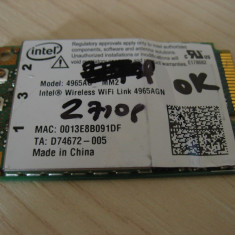 Placa wireless laptop HP Compaq 2710p, Intel Wireless WiFi 4965AGN, 441082-002