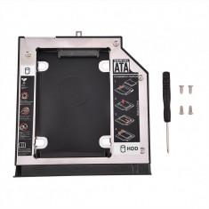 Adaptor CD-ROM pentru al doilea Hard disk SSD Caddy SATA Slim Laptop 9.5mm