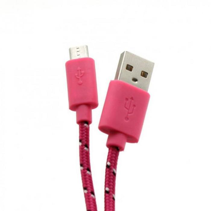 Cablu de date SBox CAB0112 USB Male - MicroUSB Male 1m Pink