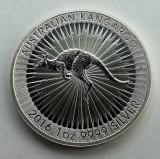 AUSTRALIA - 1 Dolar 2016 Dollar - Kangaroo - argint 31.1 gr. - 999/1000