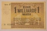 1 milliarde/ miliard, 1923 Notgeld Germania
