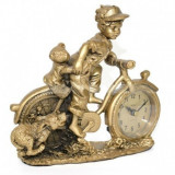 Ceas de birou cu figurina Adler 8132G 21x19cm