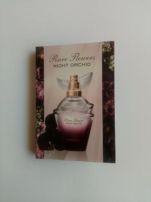 Mostra in sticluta cu brochura - Rare Flowers Night Orchid - Avon - NOU