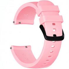 Curea ceas Smartwatch Samsung Gear S2, iUni 20 mm Silicon Pink