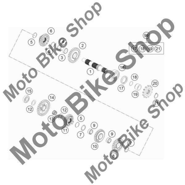 MBS Siguranta AS20X1,75 cutie viteze KTM 85 SX 17/14 2019 #21, Cod Produs: 49033091000KT