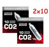 2x10 buc Capsula CO2 12g Swiss Arms CyberGun