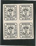 (No2)-timbre-(L.P.102)-Romania Aniversarea 75 de ani cap de bour- bloc 4 val, Stampilat