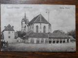 SEBES - SEBESUL SASESC - MUHLBACH - BISERICA EVANGHELICA - INCEPUT DE 1900, Circulata, Fotografie