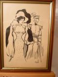 Desen-Sotia Generalului-Gall (Francois), Portrete, Cerneala, Impresionism