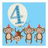 Felicitare - 4 Monkeys Blue | Soul UK