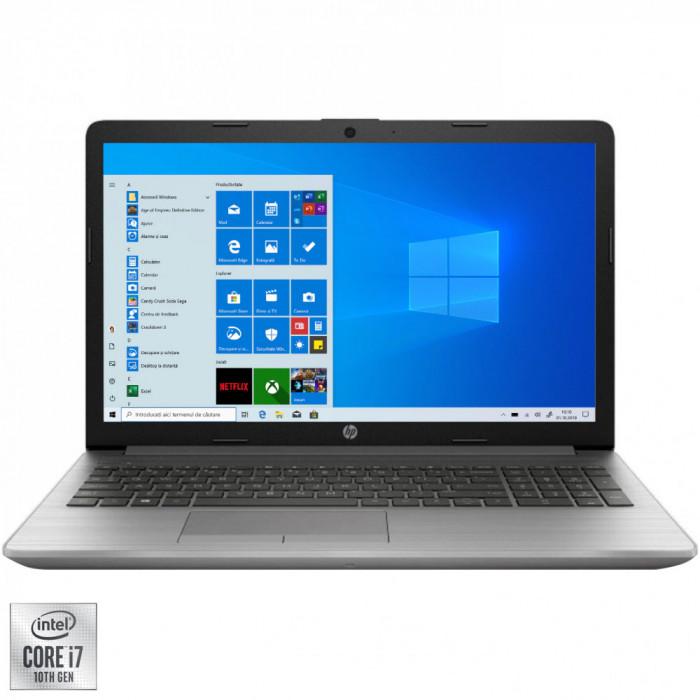 """Laptop HP 250 G7 cu procesor Intel Core i7-1065G7 pana la 3.90 GHz, 15.6"""", Full HD, 8GB, 256GB SSD, Intel UHD Graphics, Windows 10 Pro, Argintiu"""