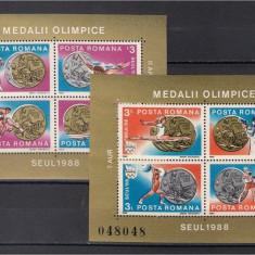 1988 - Medalii Olimpice Seoul, blocuri neuzate