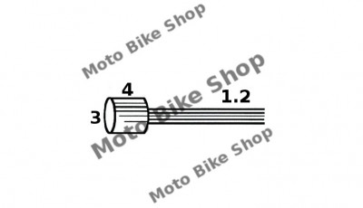 MBS Cablu acceleratie 1,2x3200 Piaggio APE (punga 10 buc.-pret/1buc.), Cod Produs: 163510041RM foto