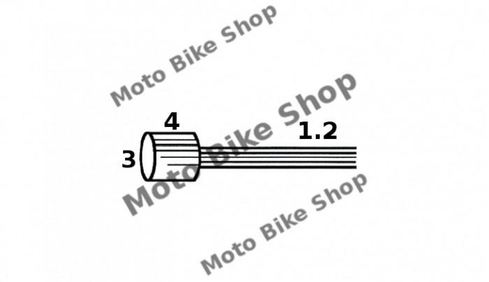 MBS Cablu acceleratie 1,2x3200 Piaggio APE (punga 10 buc.-pret/1buc.), Cod Produs: 163510041RM