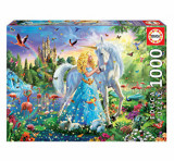 Puzzle The Princess and The Unicorn, 1000 piese, Educa