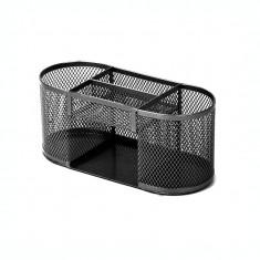 Suport pentru accesorii de birou metalic mesh Forpus 30569 negru