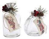 Sticluta decorativa Craciun - Santa |