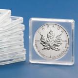 Capsule patrate pentru monede de 32 mm 10 bucati 50 x 50 mm, SAFE