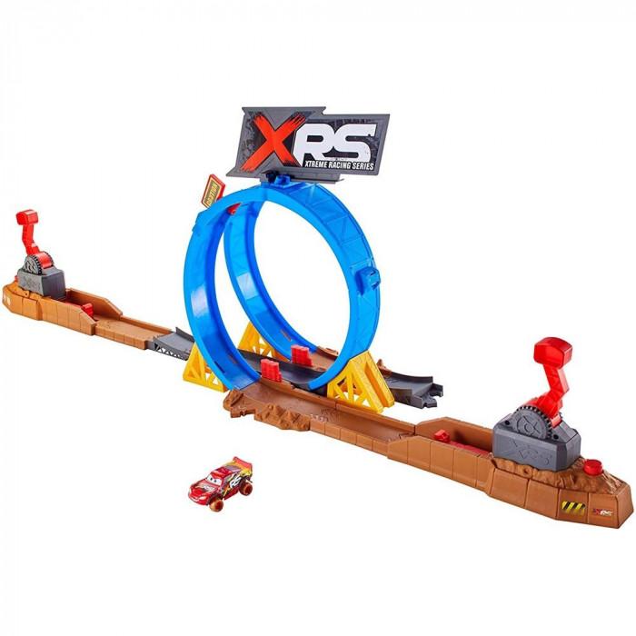 Pista de masini Disney Cars Mattel XRS cu masinuta