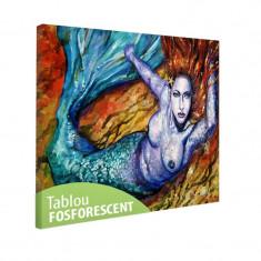 Tablou fosforescent Sirena