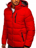 Cumpara ieftin Geacă de iarnă roșie matlasată Bolf J1906