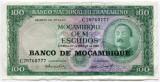 Bancnota Mozambic 100 escudos 1961, XF-