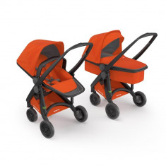 Carucior 2 in 1, Greentom, 100% Ecologic, Black Orange