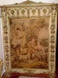 Cuier Silik/tapiserie baroc venetian,lemn masiv,2mH vintage/antic, Accesorii mobilier, 1900 - 1949