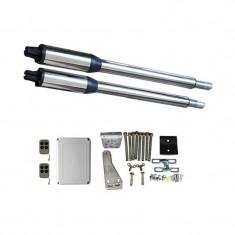Kit Automatizare Porți Batante 200kg/brat cu telecomanda