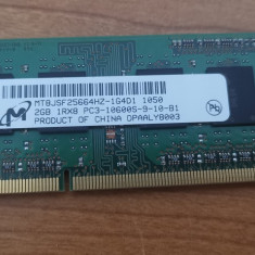 Ram Laptop Micron 2GB DDR3 PC3-1600S MT8JSF25664HZ-1G4D1
