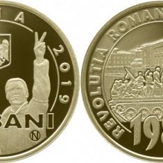 Moneda 50 bani PROOF 30 de ani Revolutia Romana