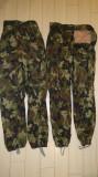 Pantaloni camuflaj militar ani 90 padure si dalmatian 48-50 52 56