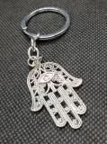 Breloc mana fatima argintiu accesorii chei temtica religioasa miracol cadou 2020