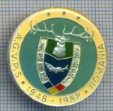 AX 140 INSIGNA VANATOARE SI PESCUIT SPORTIV PERIOADA RSR -A.G.V.P.S -1948-1988