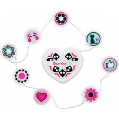 Glamor Girl , sirag Emojis cu 8 Led-uri multicolore