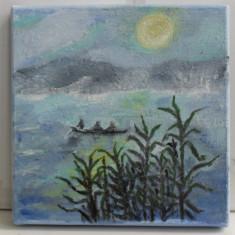 La pescuit-pictura ulei pe panza