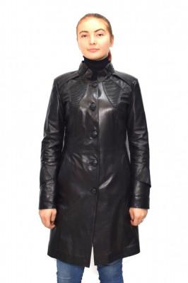 Haina dama, din piele naturala, Kurban, B00-01-95, negru foto