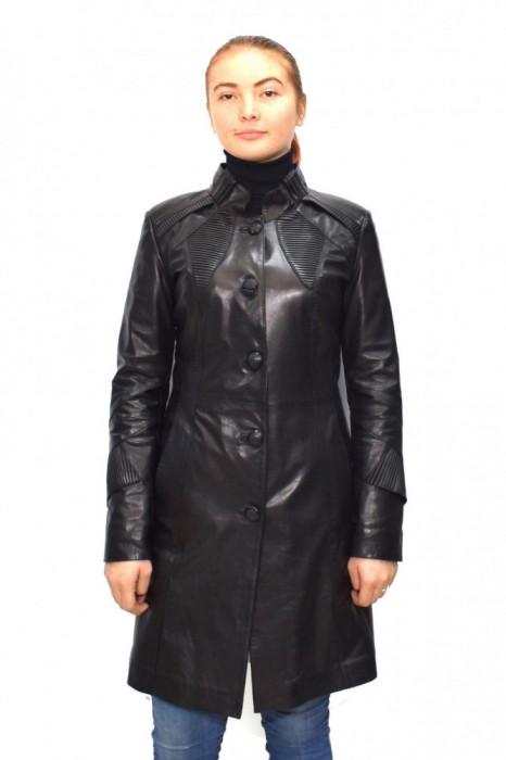 Haina dama, din piele naturala, Kurban, B00-01-95, negru