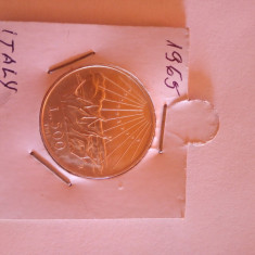 Vand moneda  Argint 500 lire -1965