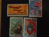 URSS-SPORTURI AVIATICE(1951)-SERIE COMPLETA-STAMPILATE