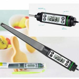 Termometru digital cu sonda pentru bucatarie, lichide, alimente, carne,...