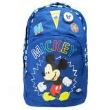 Ghiozdan clasele I-IV Pigna Mickey Mouse albastru inchis MKRS1840-2, Fata, Rucsac
