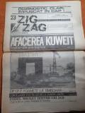 Ziarul zig zag 14-20 august 1990-art. tara motilor,interviu nicu ceausescu