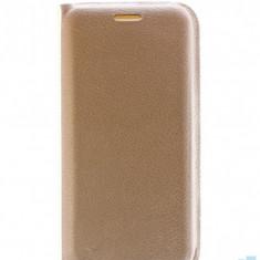 Husa Flip Cover Samsung Galaxy A8 Plus 2018, A730, Gold