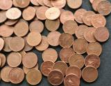Lot monede 1 euro cent 100 bucati, Europa