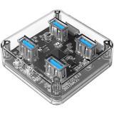 Hub USB Orico MH4U 4x USB3.0 Transparent